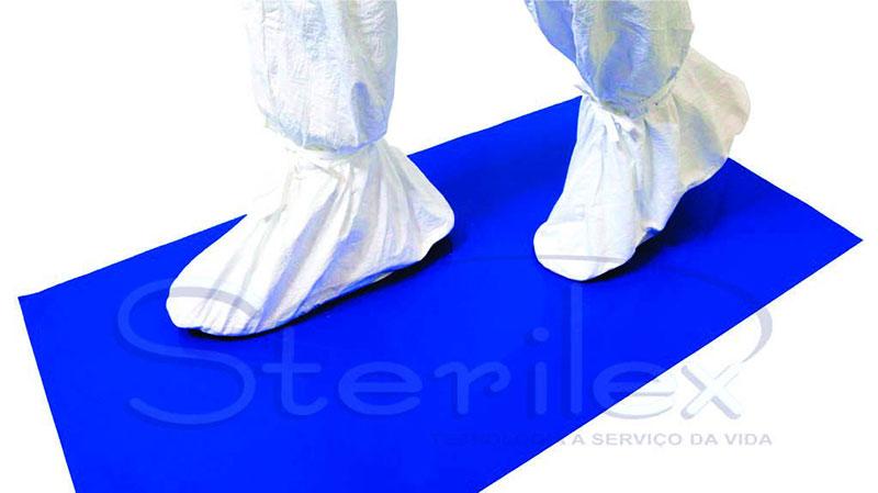 Tapete adesivo para sala limpa
